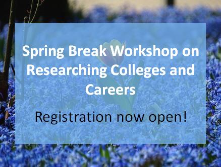 Sign up now for Spring Break Workshop!